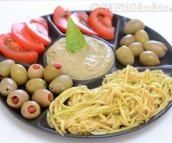 Spaghete de dovlecei cu pesto de busuioc