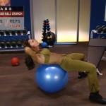 Abdomene la sala - Intermediari P2 - 1. Exercise-ball crunch