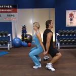 Antrenament acasa - Antrenament cu un partener - 4. Two-man squat