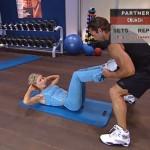 Antrenament acasa - Antrenament cu un partener - 7. Crunch