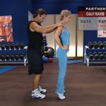 Antrenament acasa - Antrenament cu un partener - 8. Calf raise
