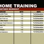Antrenament acasa - Antrenament cu un partener - Program