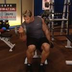 Brate - Bicepsi - Definirea musculaturii - 2. Seated db alt. curl