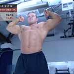 Brate - Bicepsi - Definirea musculaturii - 3. Two-arm high cable curl