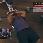 Brate - Triceps - Definirea musculaturii - 1. Lying french press