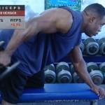 Brate - Triceps - Definirea musculaturii - 2. DB kickback