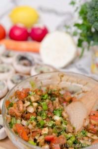 Ciuperci marinate umplute cu legume 2