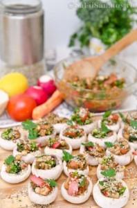 Ciuperci marinate umplute cu legume 5