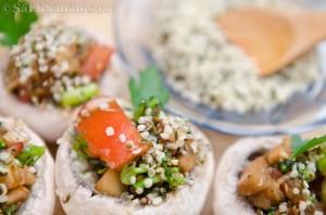 Ciuperci marinate umplute cu legume 8