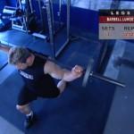 Picioare - Definirea musculaturii - 3. Barbell lunge