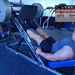Picioare - Definirea musculaturii - 5. Leg press calf raise