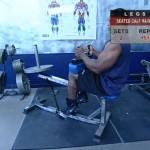 Picioare - Definirea musculaturii - 6. Seated calf raise