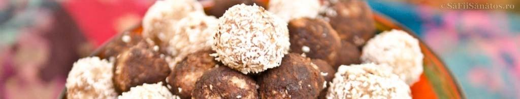 Trufe din pulpa de nuci, cocos si stafide 1