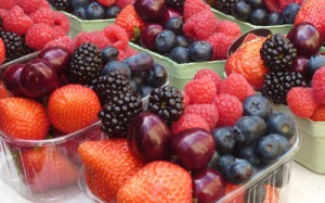 Fructe capsuni afine cirese mure