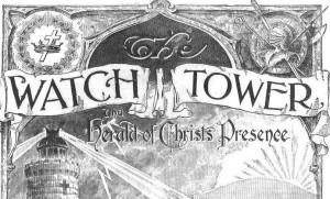 Brosura a Martorilor lui Iehova cu o cruce in stanga sus