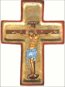 Isus rastignit pe cruce stavros