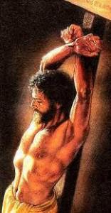 Isus rastignit pe stalp