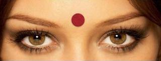Bindi, punctul la femeile indiene