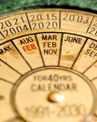 calendar vechi