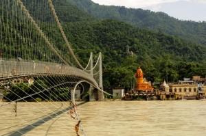 Bridge over Ganges Rishikesh India