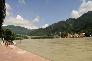 Rishikesh bridge India Mountains
