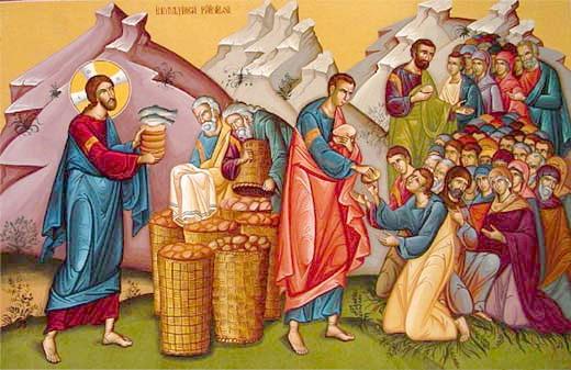 Inmultirea painilor si a pestilor - Hranirea celor 5000