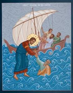Isus vine pe mare - Il salveaza pe Petru