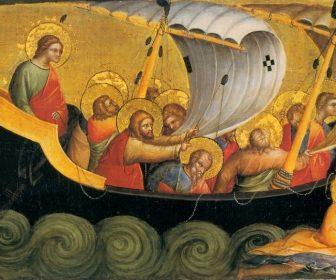 Isus vine pe mare, umbla pe apa